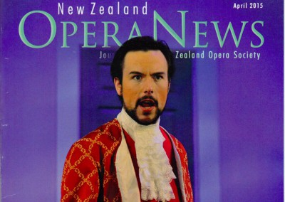 2015 NZ Opera News Cover