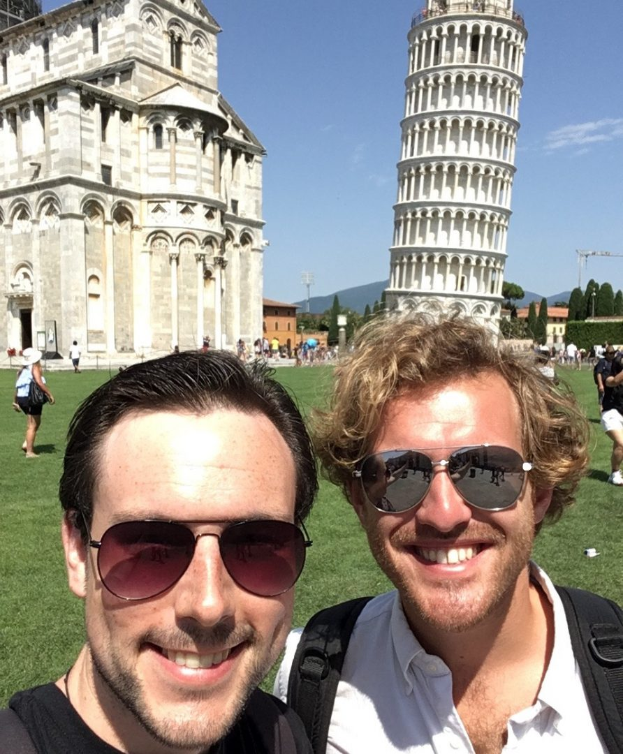 With tenor Sam Furness in Pisa
